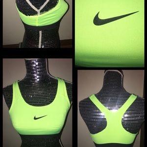 Nike Pro Air-Fit Neon Green Sports BraSize Medium